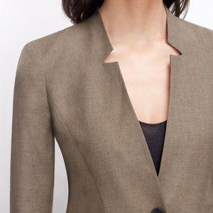 Ann Taylor All-Season Stretch One Button Jacket 8P